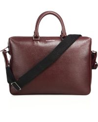 Ermenegildo Zegna - Large Leather Messenger Bag - Lyst
