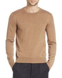 AMI | Fine Gauge Wool Sweater | Lyst