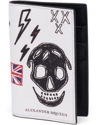 Alexander McQueen - Skull Leather Bifold Pocket Organizer - Lyst