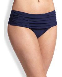 Shan - Ruched Full-coverage Bikini Bottom - Lyst