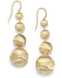 Marco Bicego - Africa 18k Yellow Gold Graduated Ball Drop Earrings - Lyst