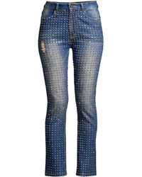 Alice + Olivia - Women's Fabrice High-rise Crystal Embellished Jeans - Break Down Crystal - Size 25 (2) - Lyst