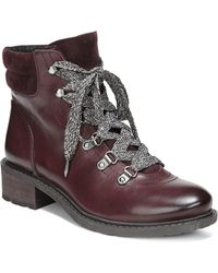 Sam Edelman - Darrah Lace-up Leather Booties - Lyst