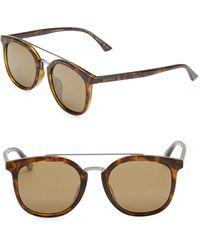 130b86f6b2 Gucci - Men s 52mm Unisex Round Sunglasses - Havana - Lyst