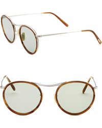 Oliver Peoples - 51mm Round Sunglasses - Lyst