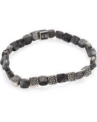 King Baby Studio - Labradorite & Sterling Silver Bracelet - Lyst