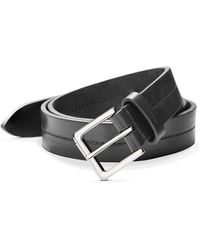 Shinola - Metallic Buckle Leather Belt - Lyst