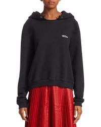 we11done - Oversized Printed Cotton-jersey Hooded Sweatshirt - Lyst
