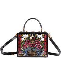 Lyst - Dolce   Gabbana Lemon Hand-painted Plexiglas Box Bag 8b4cac970eeb8