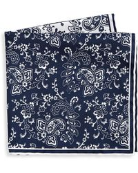 Saks Fifth Avenue - Collection Two Tone Paisley Pocket Square - Lyst