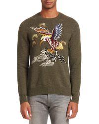 Ralph Lauren Purple Label - Embroidered Cashmere & Silk Sweater - Lyst