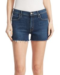 Mother - Charmer Cut Off Denim Shorts - Lyst