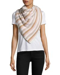 White + Warren - Stripe Cashmere Travel Wrap - Lyst