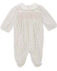 Ralph Lauren | Baby's Floral-embroidered Coverall | Lyst