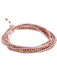 Chan Luu - Rose Gold & Blush Cord Bracelet - Lyst