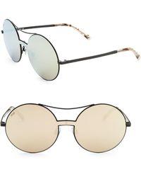 Web - Round Aviator Sunglasses - Lyst