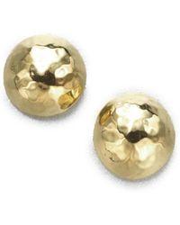 Ippolita - Glamazon 18k Yellow Gold Pin Ball Stud Earrings - Lyst