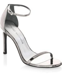 Stuart Weitzman | Nudistsong Patent Leather Sandals | Lyst