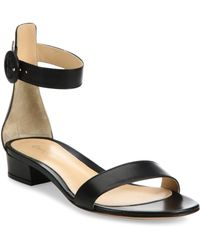 7c9bba8cdce41 Lyst - Isabel Marant Aelith Studded Thong Sandal in Natural