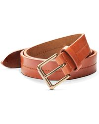 Shinola - Metallic Buckle Leather Belt - Lyst