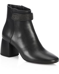 Brunello Cucinelli - City Heel Leather Boots - Lyst