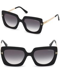 f4f14804d2c Lyst - Tom Ford Margot Oversized Two-tone Sunglasses in Brown