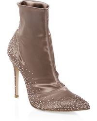 Gianvito Rossi - Point Toe Sock Booties - Lyst