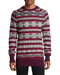 Diesel Black Gold - Fairisle Alpaca-blend Crewneck Sweater - Lyst