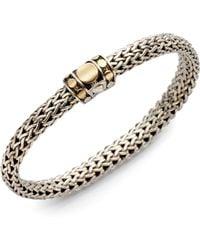 John Hardy - Dot 18k Yellow Gold & Sterling Silver Chain Bracelet - Lyst