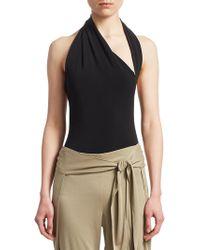 Halston - Iconic Halter Bodysuit - Lyst