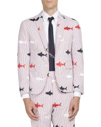 Thom Browne - Shark Embroidered Jacket - Lyst
