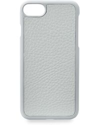 Gigi New York - Grey Pebbled Leather Iphone 7 Case - Lyst