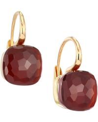 Pomellato - Nudo 18k Rose Gold, White Gold & Garnet Earrings - Lyst