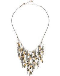 Chan Luu - Pyrite Mix Fringe Necklace - Lyst