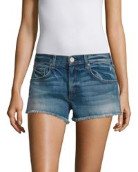 Mcguire - Pom-pom Distressed Cut-off Denim Shorts - Lyst