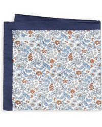 Eton of Sweden - Floral Cotton & Silk Pocket Square - Lyst