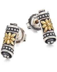 Konstantino - Penelope 18k Yellow Gold & Sterling Silver Scroll Stud Earrings - Lyst