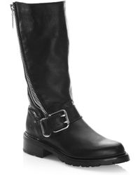 Frye - Samantha Leather Mid-calf Boots - Lyst