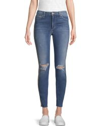 Joe's - Charlie Metallic Stripe Ankle Jeans - Lyst