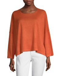 Eileen Fisher - Jewel Neck Box Top - Lyst
