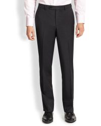 Saks Fifth Avenue - Wool Dress Pants - Lyst