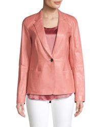 Lafayette 148 New York - Leather Blazer - Lyst
