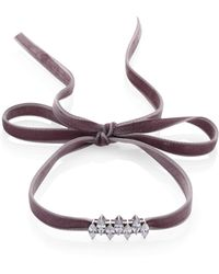 Fallon - Monarch Mini Jagged Edge Crystal & Velvet Choker - Lyst