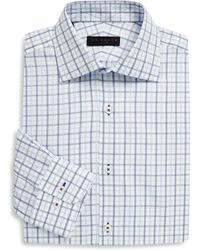 Ike Behar - Regular-fit Tattersall Cotton Dress Shirt - Lyst