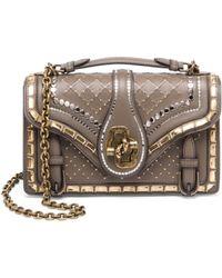 Bottega Veneta City Knot Leather Shoulder Bag in Gray - Lyst bbf47f4c0f3e0