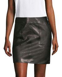 J Brand - Patti Leather Skirt - Lyst