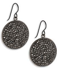 Nest - Hematite Pave Drop Earrings - Lyst
