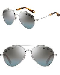 8f5c00ee57b37 Givenchy - Men s 58mm Aviator Sunglasses - Palladium - Lyst