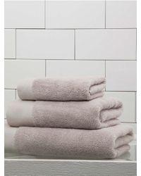 Frette - Diamond Border Egyptian Cotton Wash Cloth - Lyst
