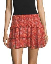 Rebecca Minkoff | Phoebe Floral Ruffle Skirt | Lyst